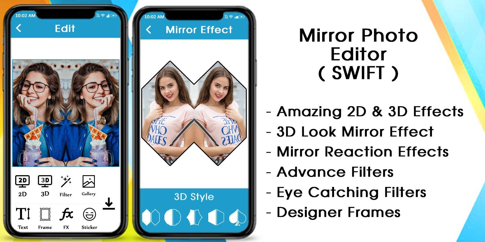 Mirror Photo - 3D MirrorPic Editor iOS Swift