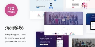Snowlake - SaaS Business And Startup Template