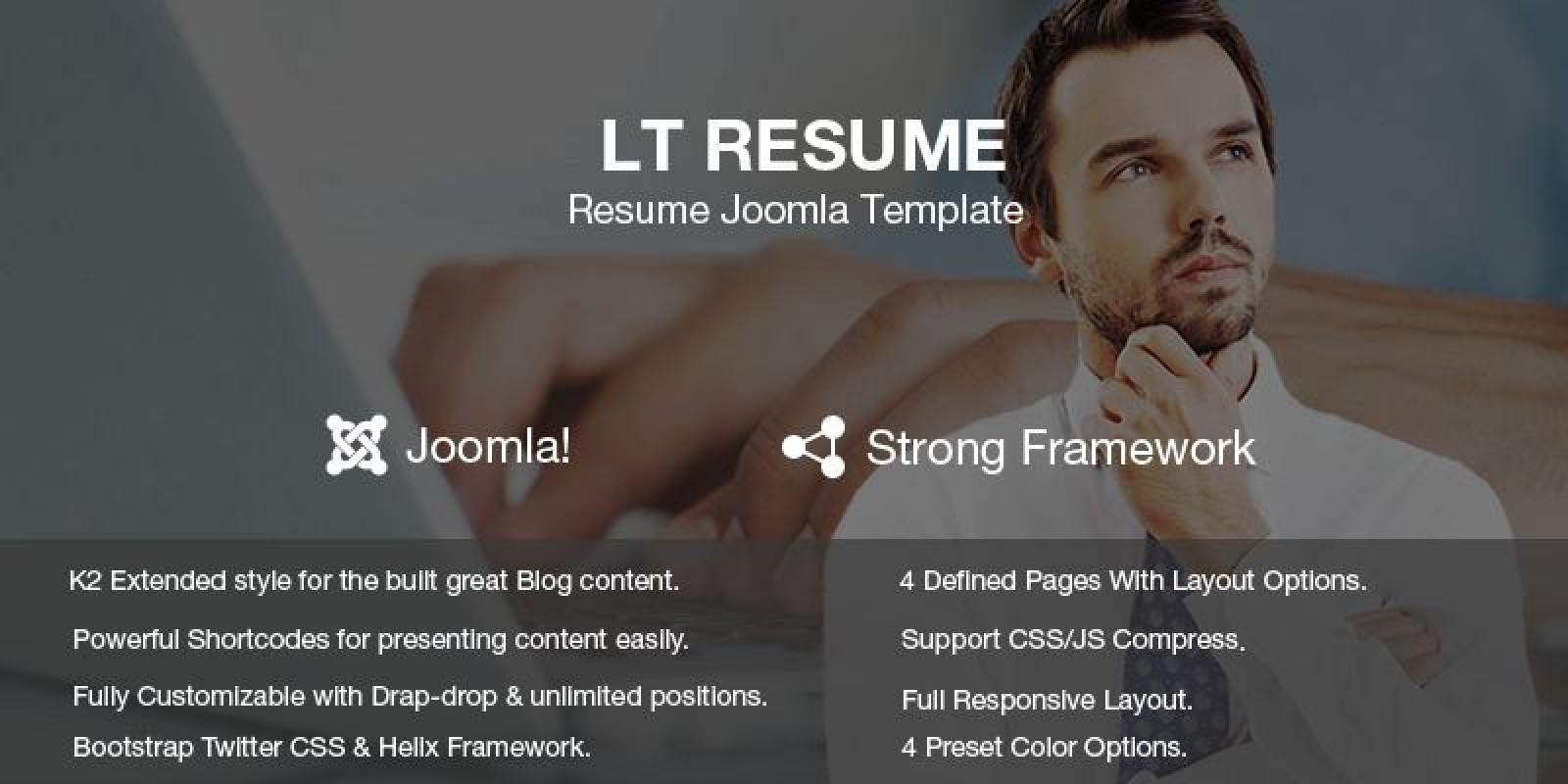 lt resume personal cv resume joomla template - Resume Cv Joomla Template