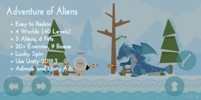 Adventure of Aliens - Unity Game Template