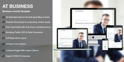 AT Business – Business Joomla Template