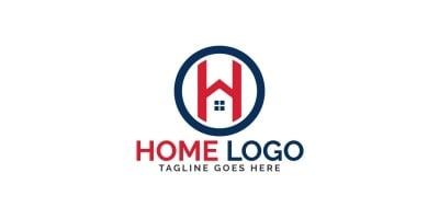 Letter H Home Vector Logo Design