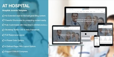 AT Hospital – Medical Hospital Joomla Template