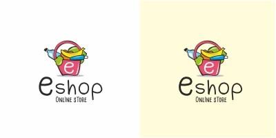 E Shop Online Store Logo