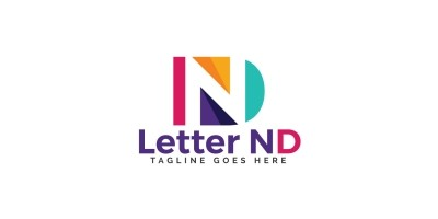 Letter ND Logo Design