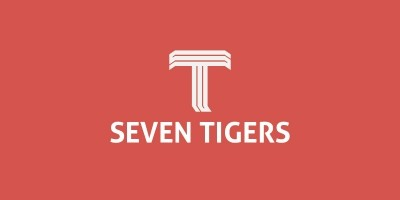 Seven Tigers Letter T Logo Template