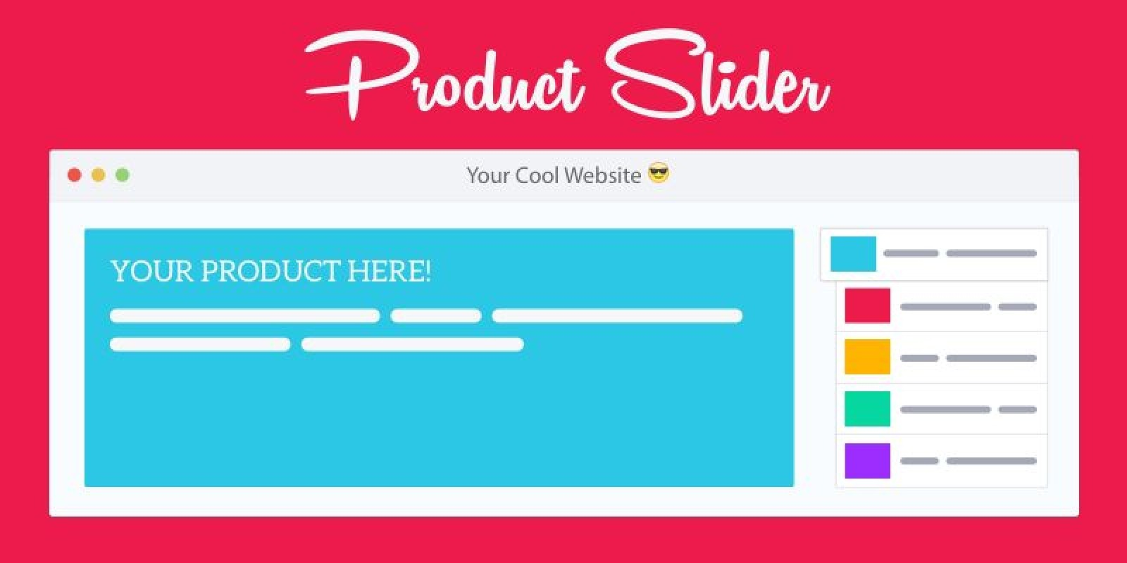 Responsive Product Slider CSS JavaScript