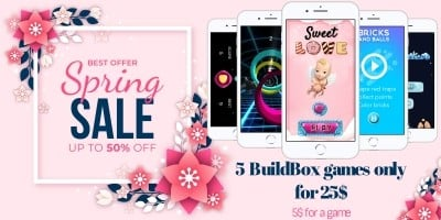 Spring Sale - 5 BuildBox Games Bundle