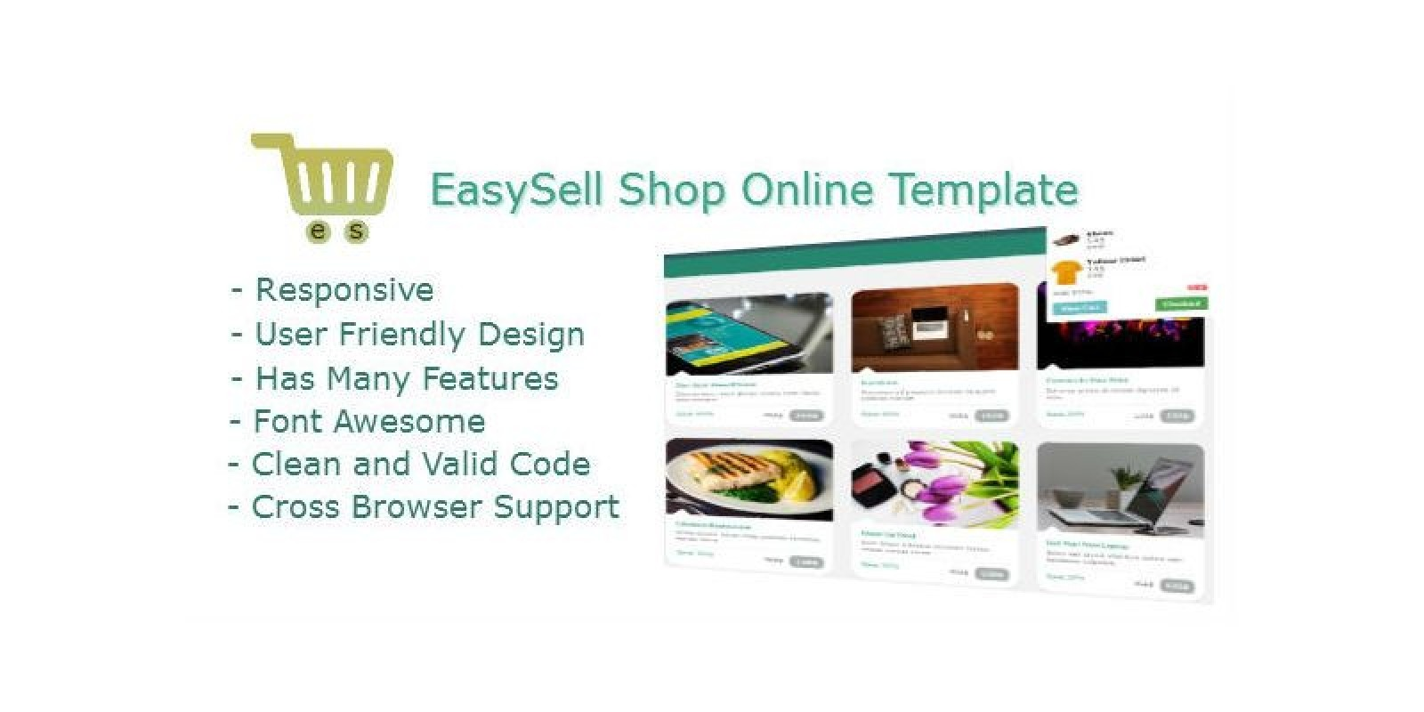 Easy Sell Shop - eCommerce HTML Template