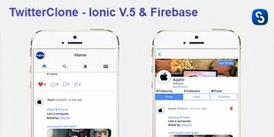 TwitterClone - Ionic V4 And Firebase