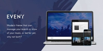 Eveny - Events And Music Gallery WordPress Theme