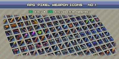 RPG Pixel Weapon Icons 1