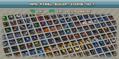 RPG Pixel Equipment Icons 1