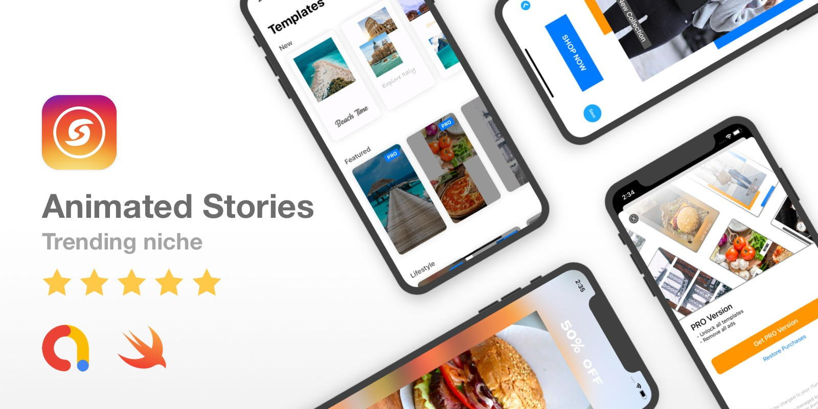 Animated Stories - Incredible Full iOS app