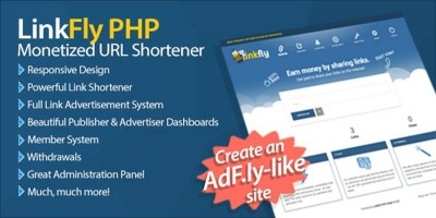 LinkFly - AdFly Clone URL Shortener PHP Script