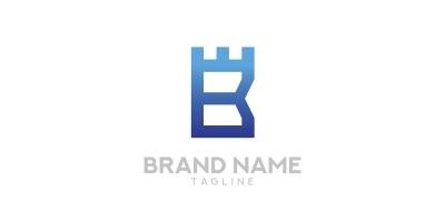 Letter B Castle Logo