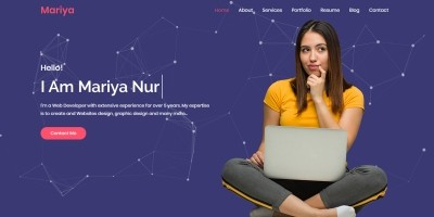 Mariya Personal Portfolio Template