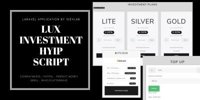 Lux - Investment HYIP Script