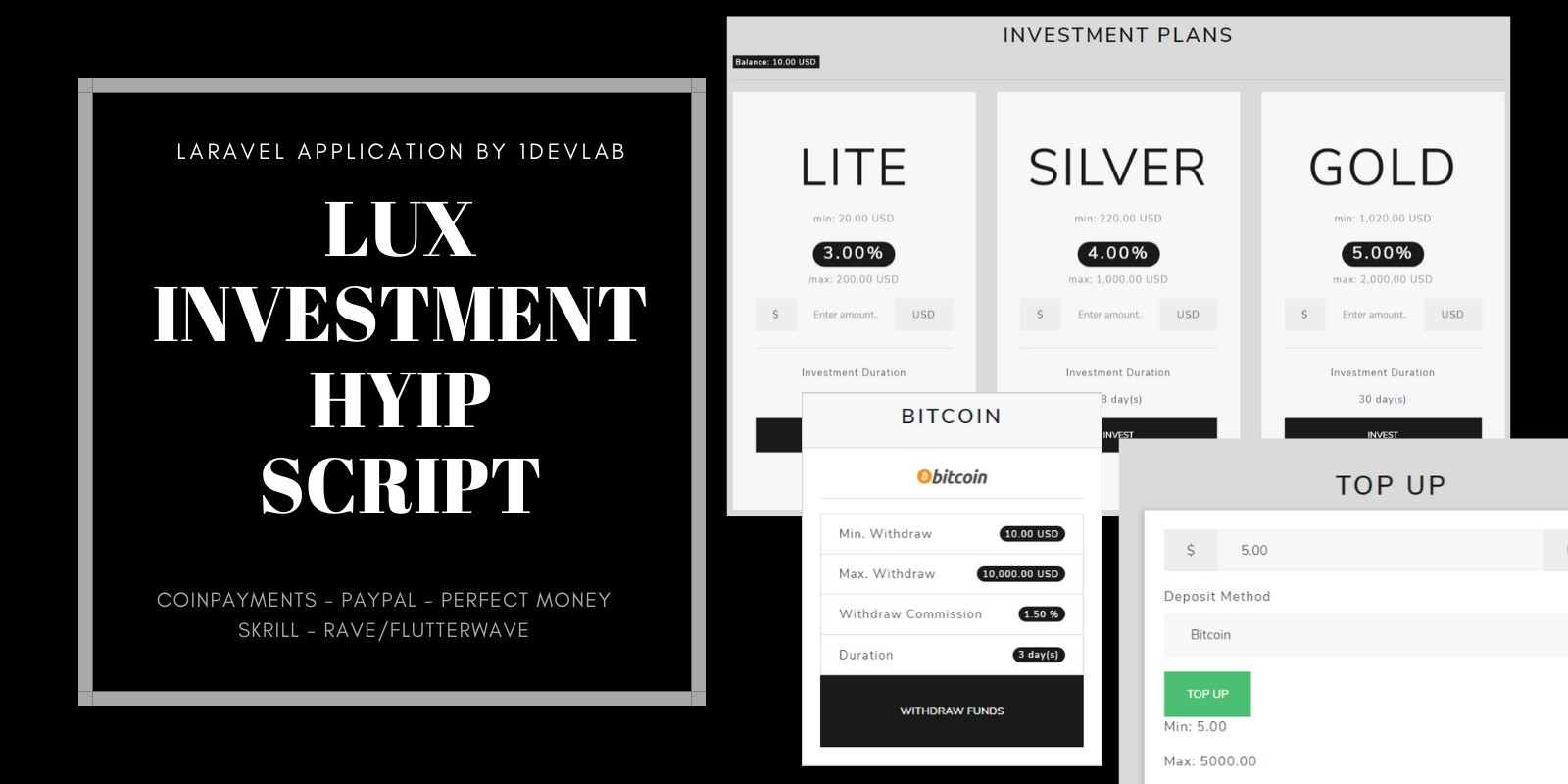 Lux - Investment HYIP Script