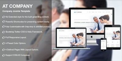 AT Company - Business Joomla Template