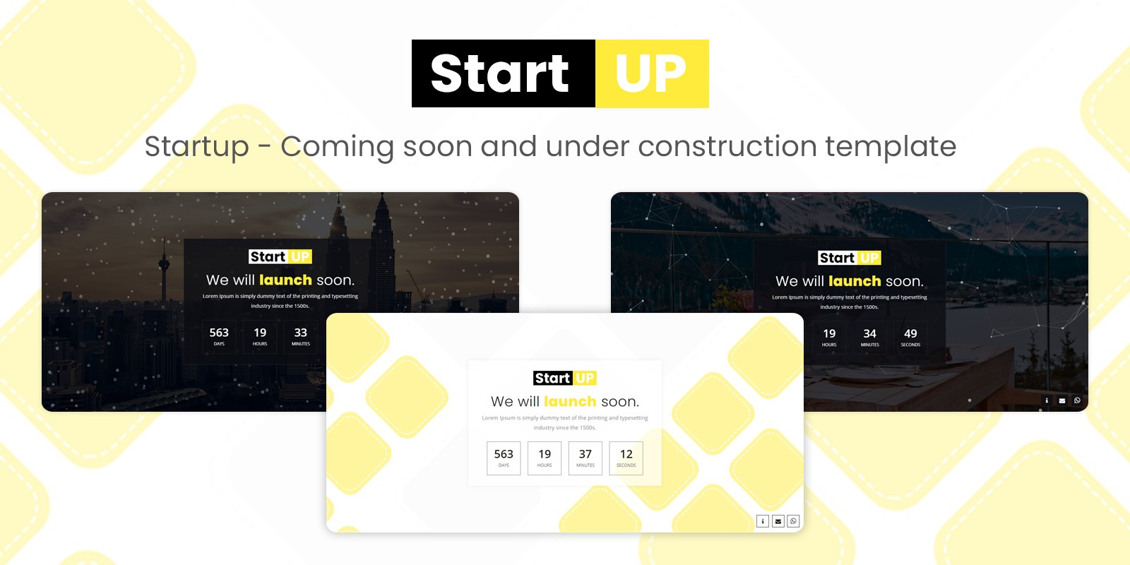 Startup - Coming Soon Template