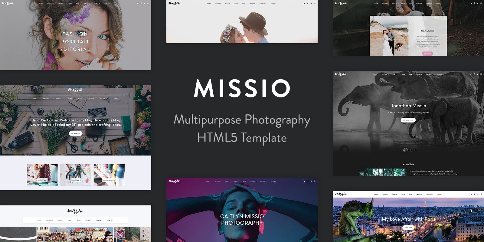 Missio - Photography HTML Template