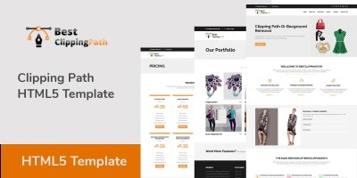 Clipping Path HTML5 Template