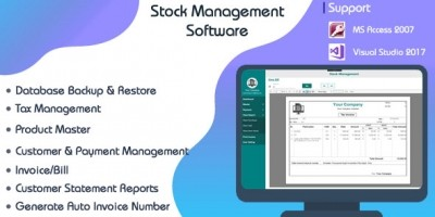 Stock Management System C# WPF-Ms Access