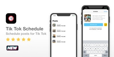 Tik Tok Schedule - iOS Source Code