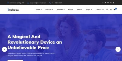 Techopz - Multipurpose Business WordPress Theme