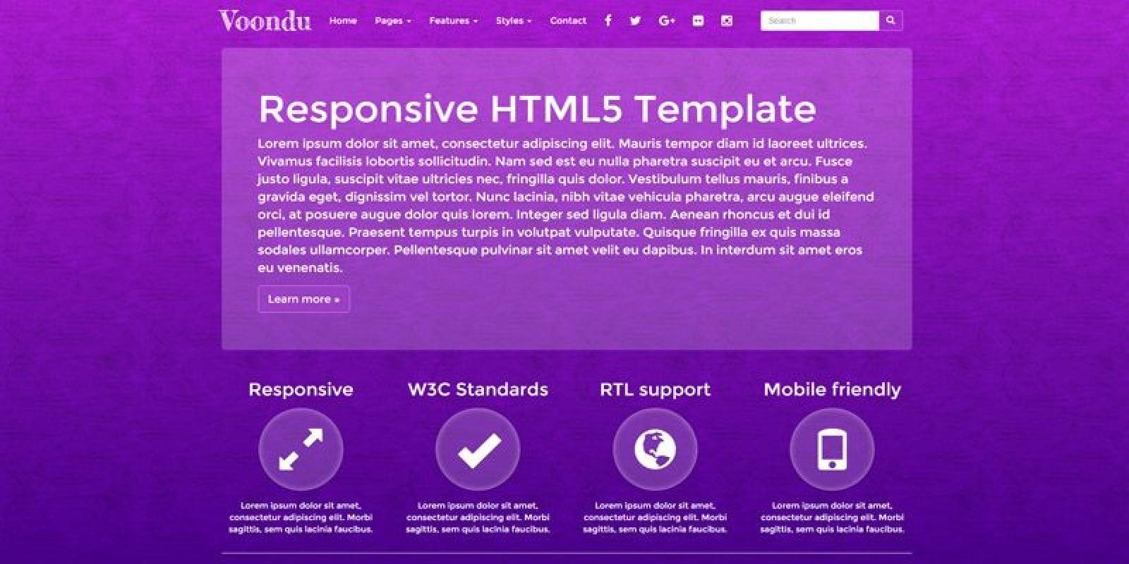 Voondu - Responsive  HTML Template