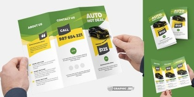 Auto Deal Trifold Brochure Template