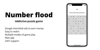 Number flood - iOS Template