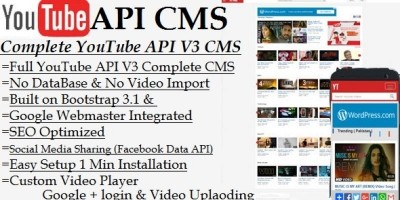 YouTube API CMS PHP