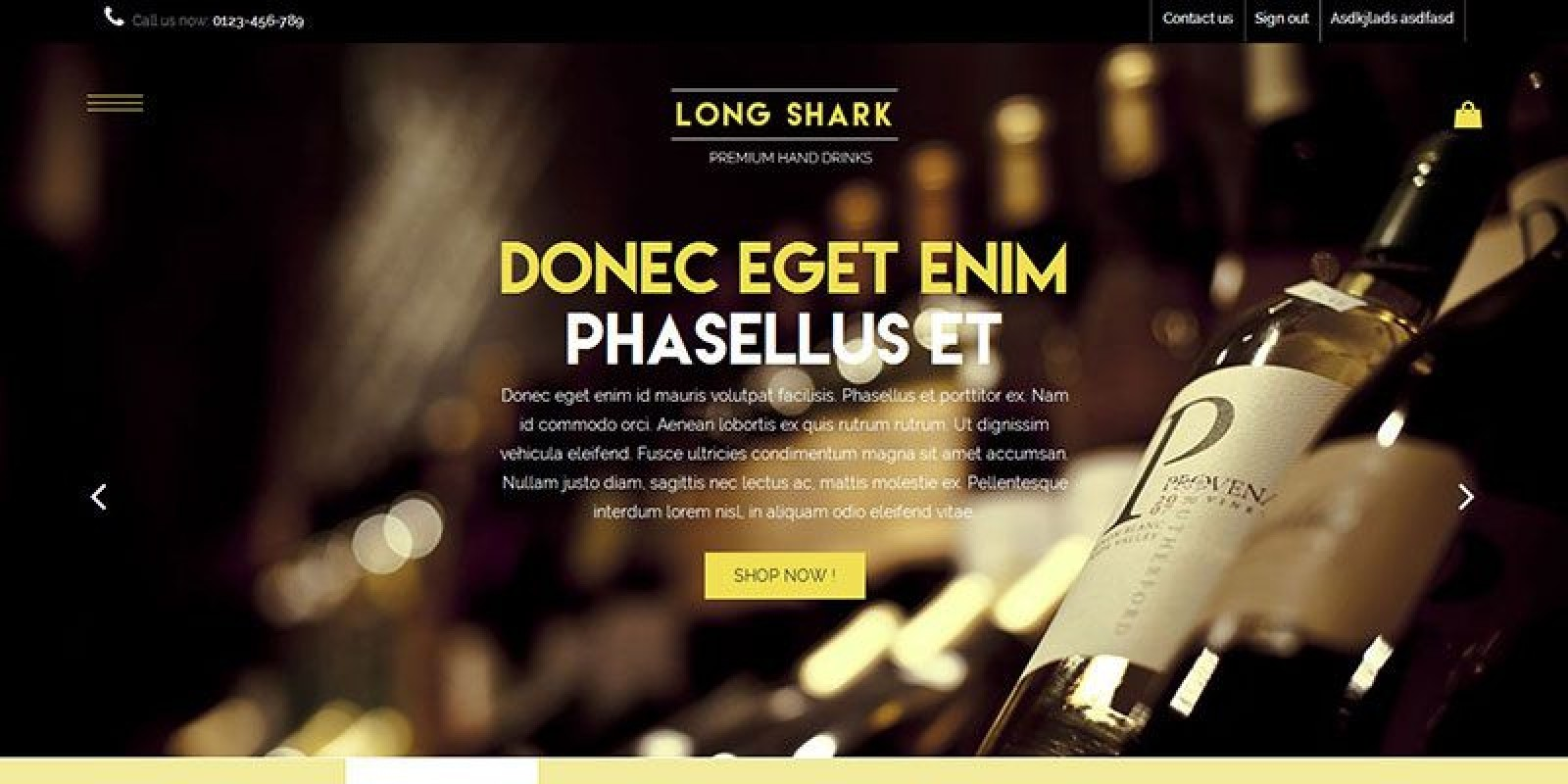 Long Shark - Wine and Whisky Prestashop Theme