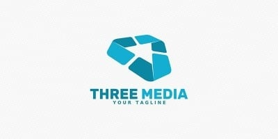 Three Media - Logo Template