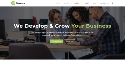 Bizzcane - HTML Bootstrap 4 Business Template