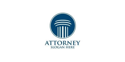 Law And Attorney Logo Design