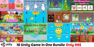 Unity Bundle - 16 Kids Games