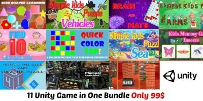 Unity Bundle - 11 Puzzle Games