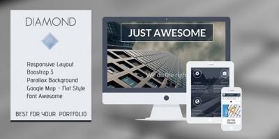 Diamond - OnePage Responsive HTML Template
