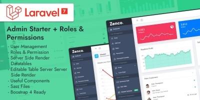 Zenco Laravel Admin Starter With User Roles