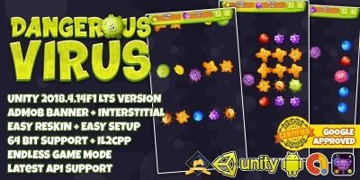 Dangerous Virus - Unity3D Source Code