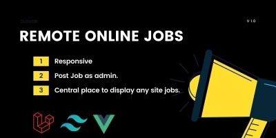 Remote Online Jobs - PHP Laravel Script