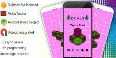 Duals Buildbox Template With Admob