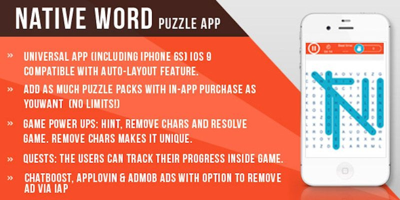 Word Search Puzzle - iOS Game Source Code