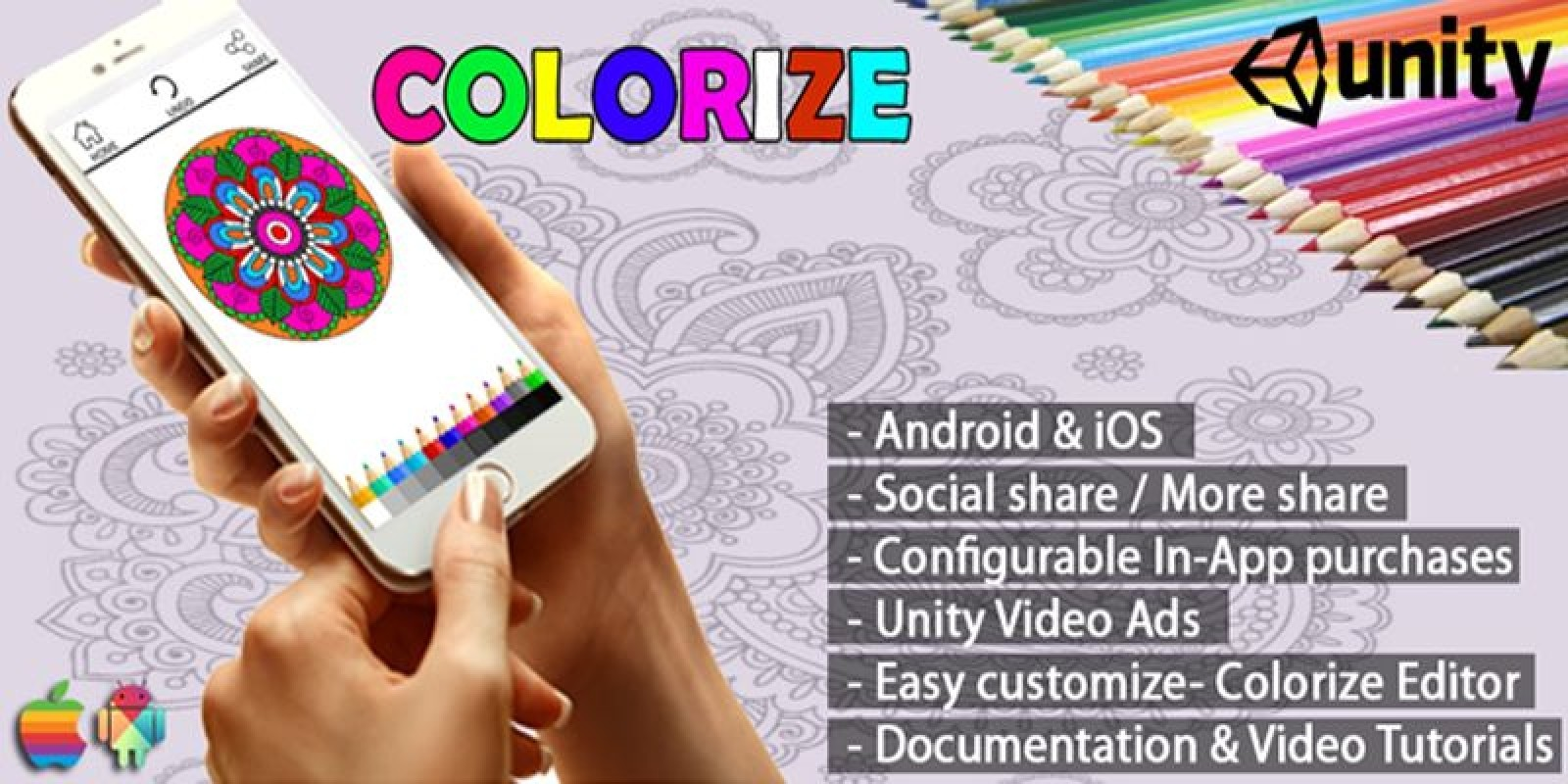 Colorize Coloring App – Unity Source Code