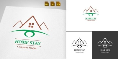 Home Stay - Logo Template