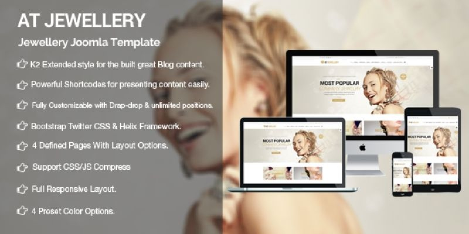 AT Jewellery Store - Diamond Store Joomla Template