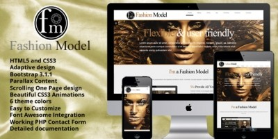 Fashion Model - Responsive OnePage HTML Template